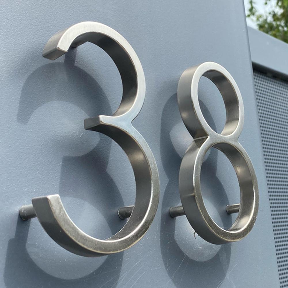 huisnummer chrome 38 zink