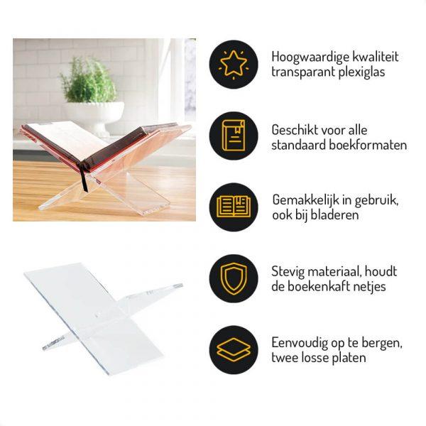 Boekstandaard plexiglas