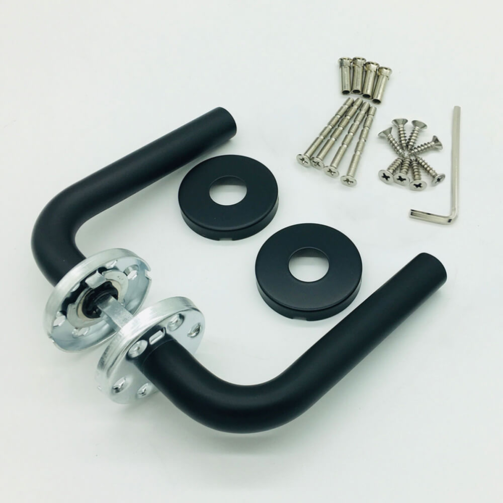 Sergio zwarte deurklink productfoto