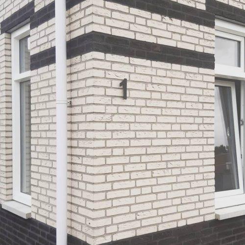 Huisnummer zwart rvs-1
