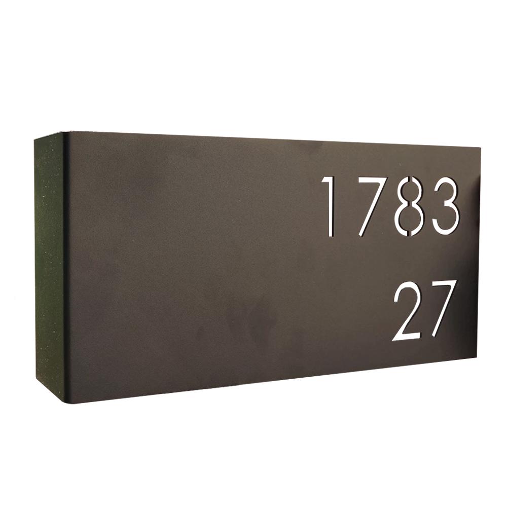 Huisnummerbord-zwart-rvs-groot