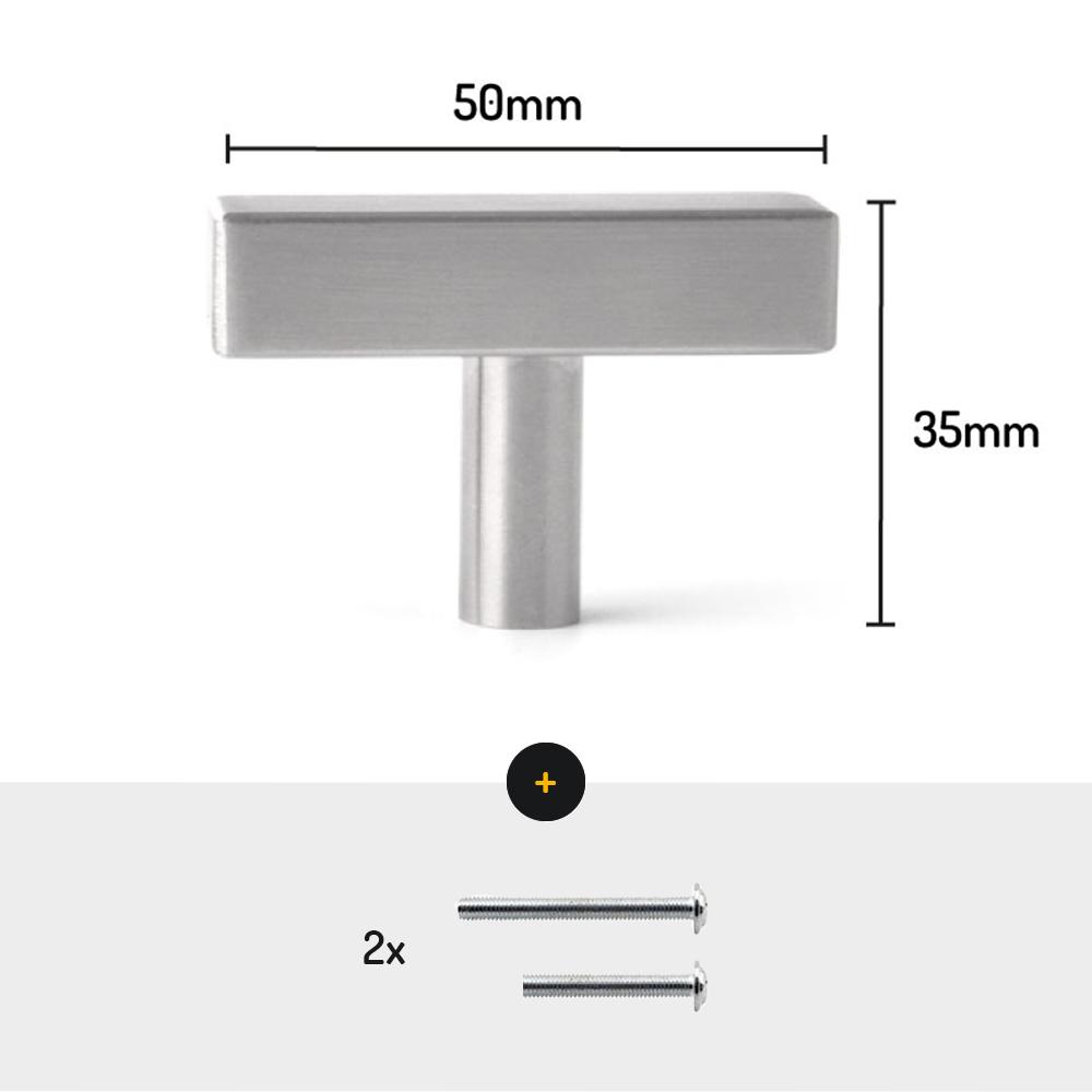 meubel deurknop chrome 50mm meubelknop afmetingen met schroeven