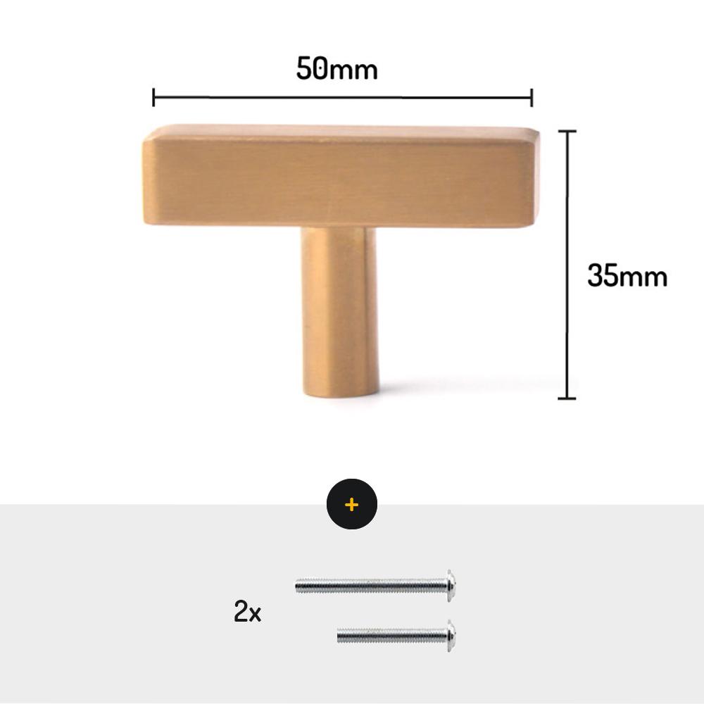 meubel deurknop goud 50mm meubelknop afmetingen met schroeven