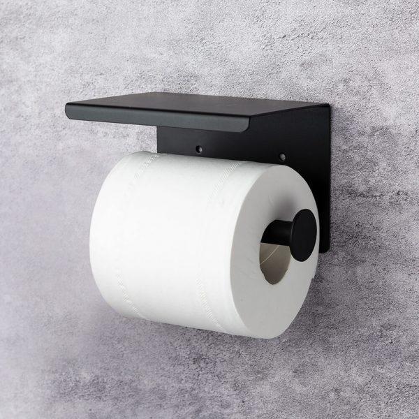 toiletrolhouder met mobiel vakje klein