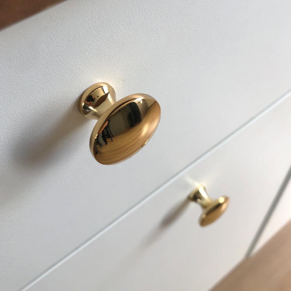 Deurknopjes goud kast deurknoppen goudkleurig antoni gold