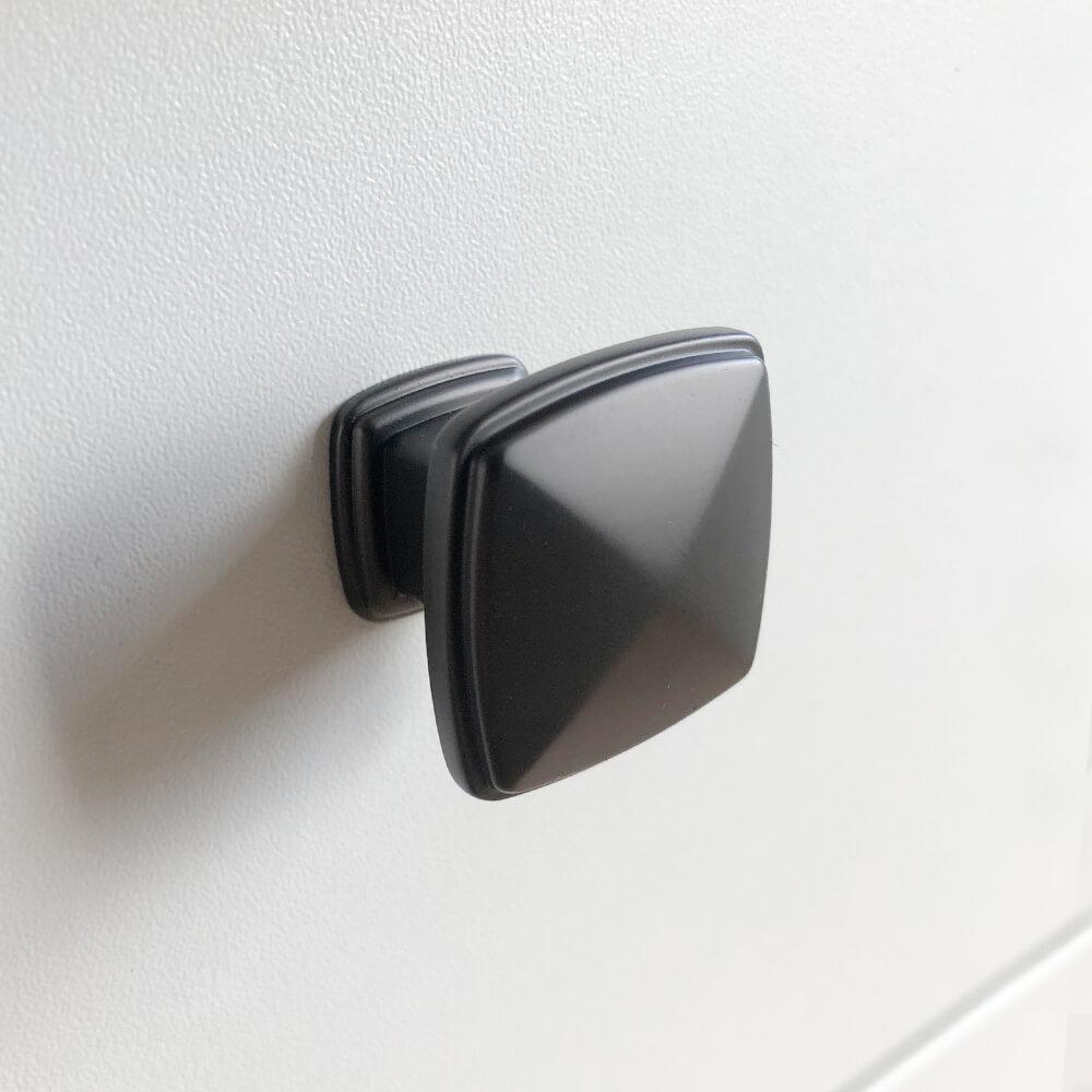 deurknopjes zwart kastknoppen roestvrijstaal adaro black